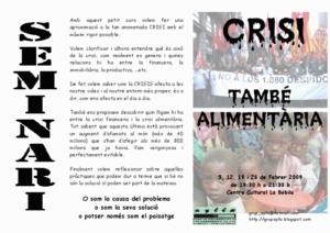 Programa del curs Crisi tambe alimentaria